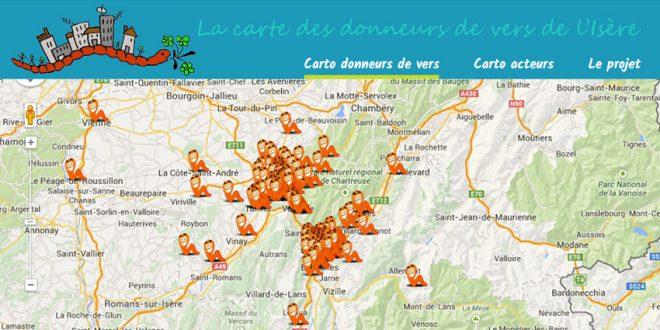 Carte des donneurs de lombrics en Isère