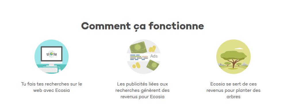 Méta moteur de recherche Ecosia