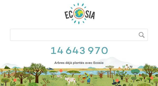 Ecosia moteur de recherche plantation arbre