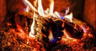 Feu de cheminée à foyer ouvert