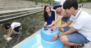 recharger portable à partir d'énergie hydrolienne