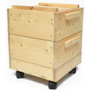 Lombricomposteur en bois à deux étages
