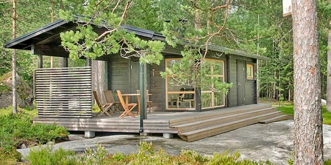 Une maison pr fabriqu e en bois de 25m pour moins de for Petite maison prefabriquee en bois