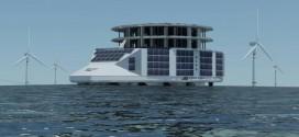 Une plateforme flottante pour exploiter les énergies renouvelables marines