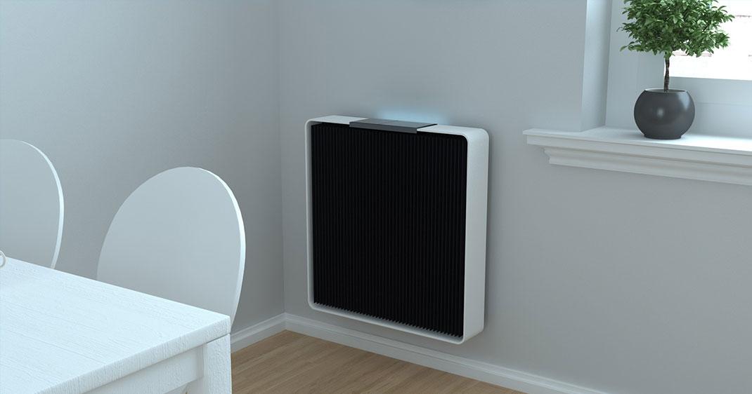 La radiateur connecté Q.Rad permet de chauffer gratuitement des pièces allant jusqu'à 28m²