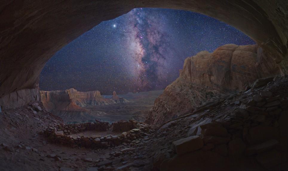 Voie lactée depuis la grotte de False Kiva